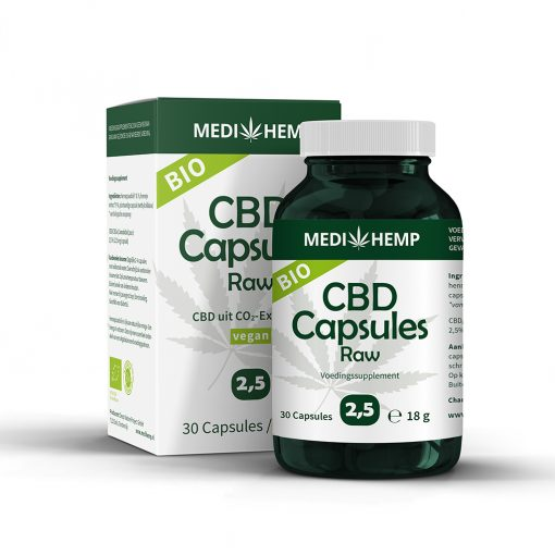 MediHemp CBD Capsules Raw Bio 2,5%
