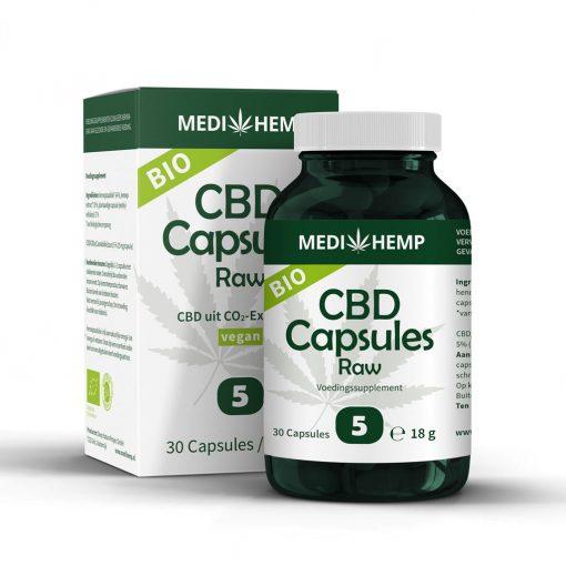 MediHemp CBD Capsules Raw Bio 5%