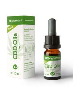 MediHemp CBD Olie Puur Bio 2,5% 10ml