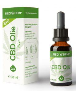 MediHemp CBD Olie Puur Bio 2,5% 30ml