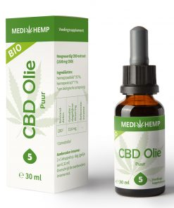 MediHemp CBD Olie Puur Bio 5% 30ml