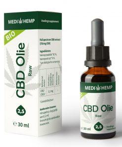 MediHemp CBD Olie Raw Bio 2,5% 30ml